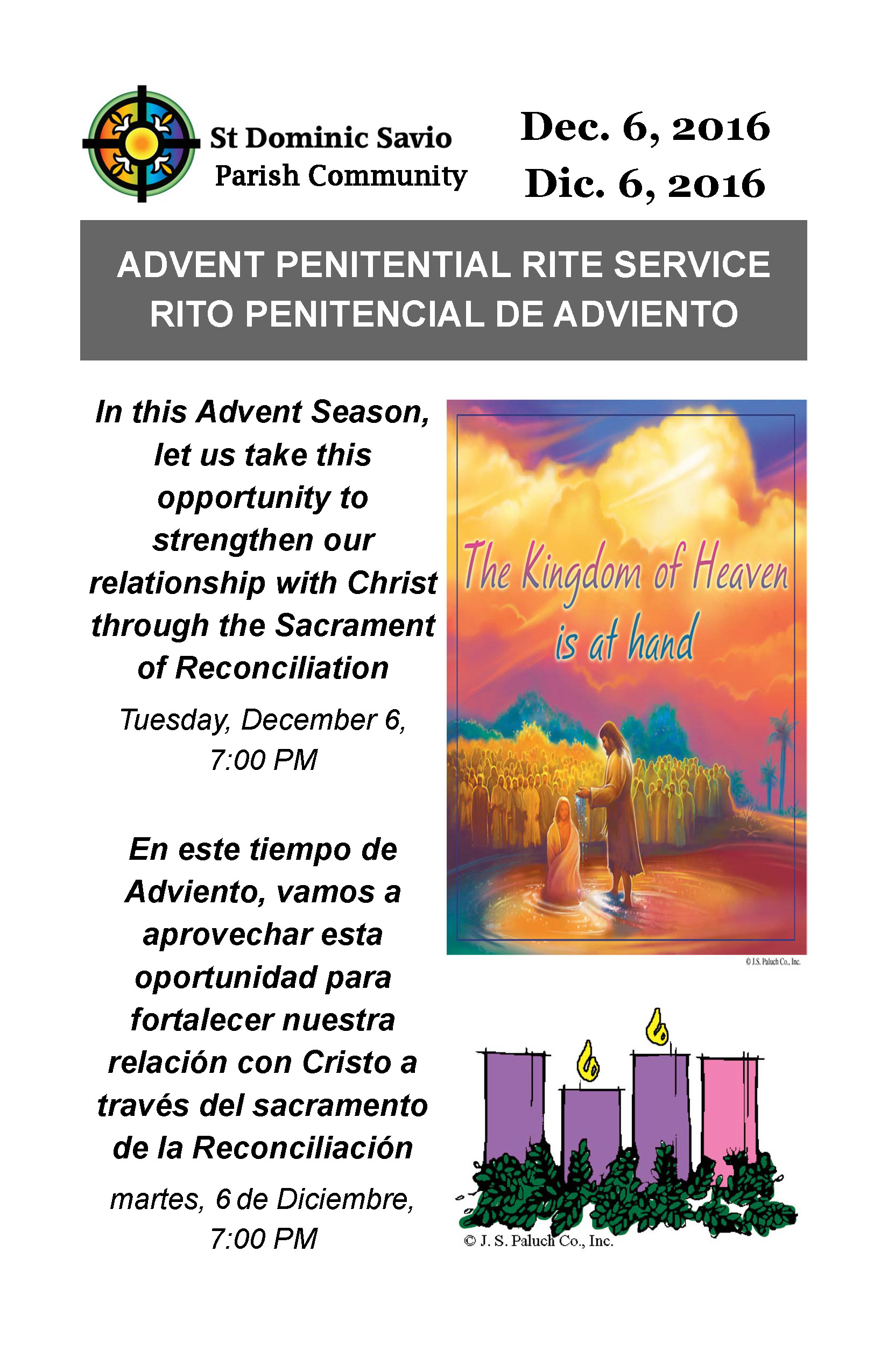 Advent Penitential Service 2016 Flyer
